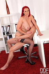Sexy Redhead Gets Titty-Fucked