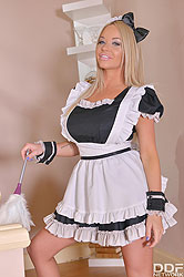 A Busty Maid's Dream: Sucking His Dick For Cum On Her Tits
